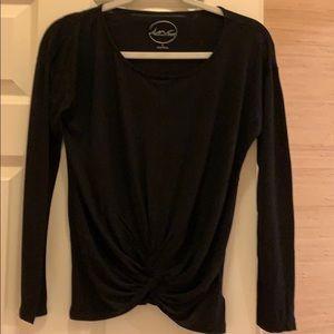 INC twist front black top size XS 100% cotton